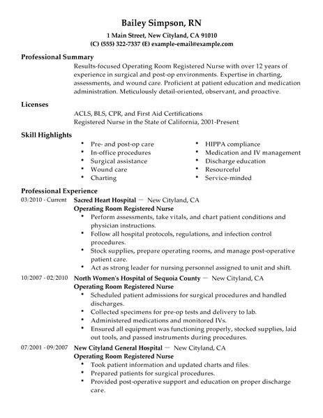 operation theatre resume format best operating room registered resume exle