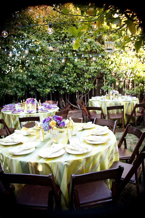 Backyard bbq wedding reception Outdoor furniture Design