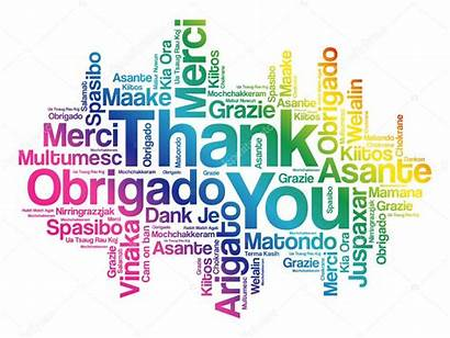 Thank Word Cloud Background Languages Multilingual Vector