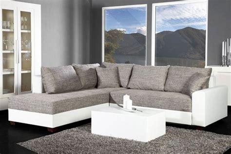 canape d angle gris canapé d 39 angle convertible blanc gris vigo idées pour la