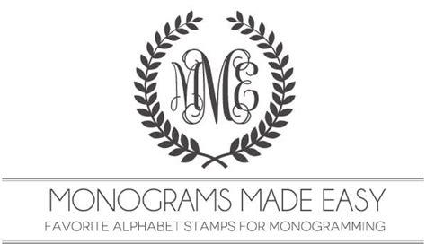 monograms  easy alphabet stamps  monogramming damask love