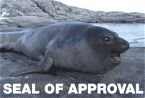 Seal Of Approval Meme - good seal of approval gif find share on giphy