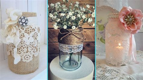 Jar Home Decor Ideas by Diy Rustic Shabby Chic Style Jar Decor Ideas Home