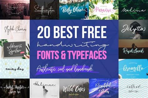 cool handwriting fonts   creativebooster
