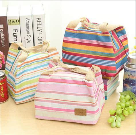 2015 brand new stripe thicken fabric pouch portable bento