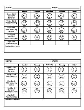 preschool behavior plan kindergarten behavior chart by jillian teachers pay teachers 611