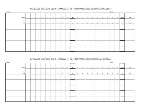 Blank Golf Scorecards Printable  Blank Golf Scorecard