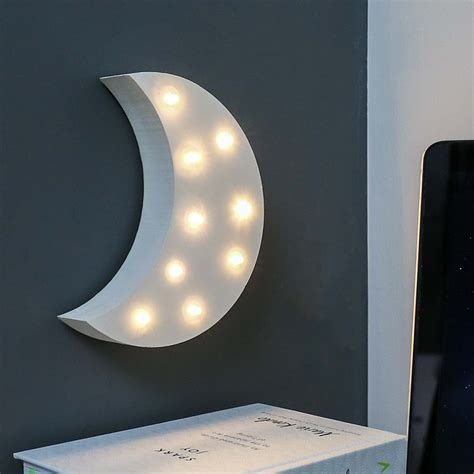 up moon wooden moon battery light up circus letter warm white Light