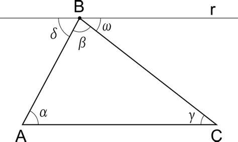 somma degli angoli interni di un triangolo somma angoli interni triangolo