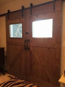 ana white sliding barn doors over sliding glass door With barn doors over sliding glass doors