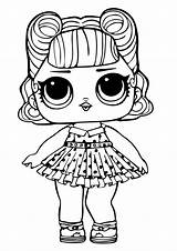 Coloring Surprise Lol Dolls Pages Doll Template sketch template