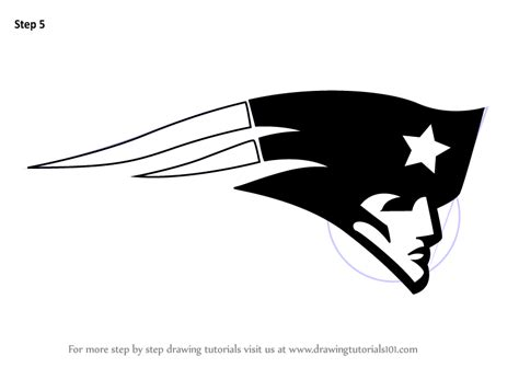 learn   draw  england patriots logo nfl step