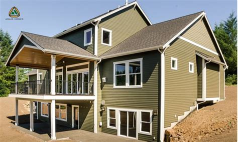 what is a daylight basement in the back the home is completely modern with an
