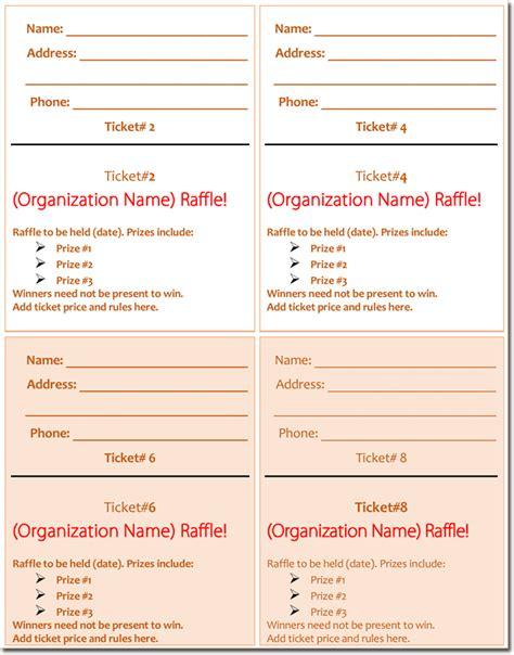 numbered raffle ticket template 20 free raffle ticket templates with automate ticket numbering