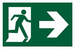 Emergency Exit Right Sign E1210 - National Safety Signs