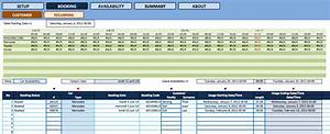 Microsoft Excel Free Downloads Booking And Reservation Calendar Exceltemplate Net