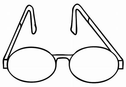 Coloring Pages Eyeglasses Simple