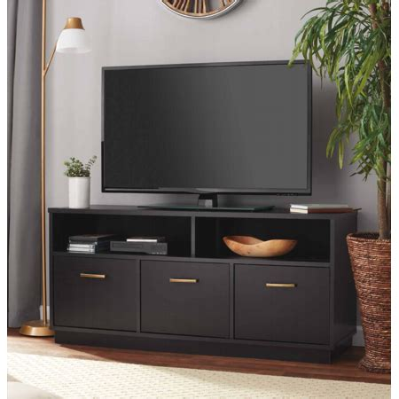 Walmart Cabinet Tv by Mainstays 3 Door Tv Stand Console For Tvs Up To 50