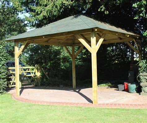 garden wooden gazebo classico wooden gazebo 4 3m x 4 3m garden canopy kit