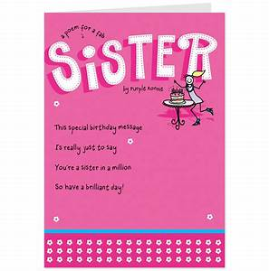 Funny Quotes Ab... Cute Sister Bday Quotes