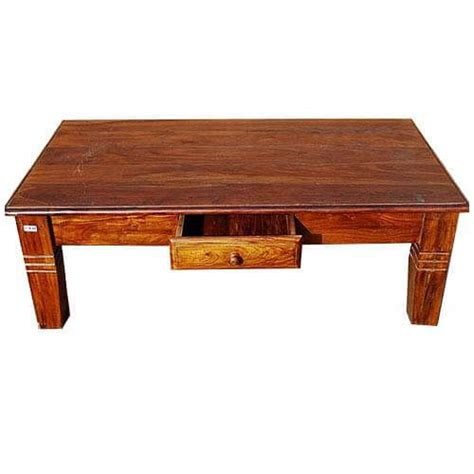 Oversized Solid Wood Storage Cocktail Coffee Table