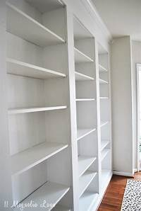 how to build a built in bookshelf How to build DIY Built In Bookcases from IKEA Billy Bookshelves | 11 Magnolia Lane
