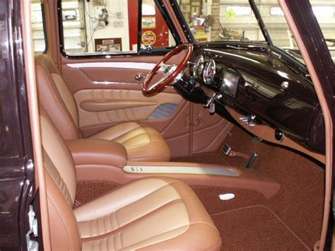 1953 Chevy Truck Custom Leather Interior. Interiors By