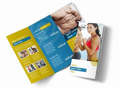 Brochure Gym Fitness Template Core Fold Tri