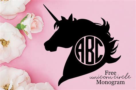 unicorn circle monogram