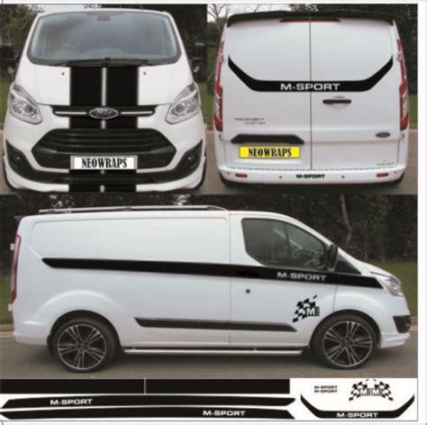 ford transit custom swb m sport kit graphics stickers decals stripes neowraps
