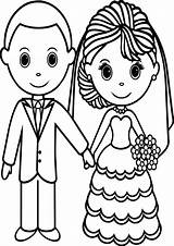 Coloring Pages Couple Wecoloringpage Inspiration Wedding Cute Davemelillo Happy sketch template