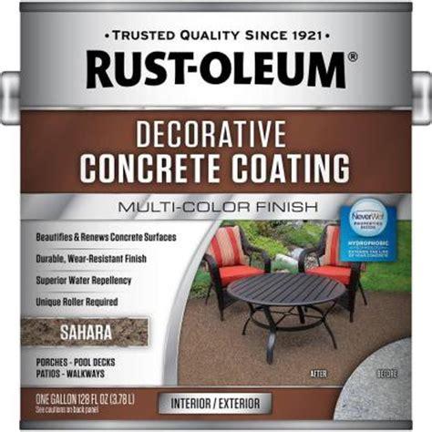 rust oleum 1 gal sahara decorative concrete coating 2