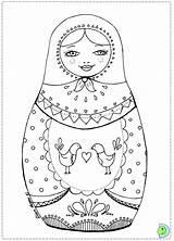 Coloring Russian Dolls Doll Colouring Printable Matryoshka Matrioshka Colour Dinokids Drawing Nesting Babushka Kokeshi Paper Simple Adult Russe Dessin Coloriage sketch template