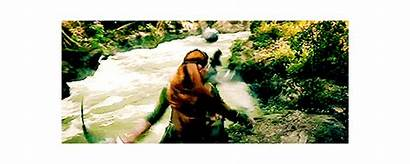 Tauriel Elf Evangeline Hobbit Lilly Fighting Legolas