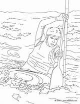 Kayak Coloring Canoe Pages Drawing Canoes Water Sports Template Getcolorings Printable Sketch Easy Hellokids Kayaks Source Getdrawings sketch template
