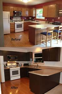 Painting kitchen cabinets sometimes homemade for Painted kitchen cabinets before and after photos