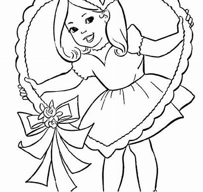 Coloring Valentine Valentines Swag Printable Sheets Coloriage