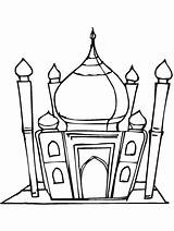 Ramadan Coloring Pages Mosque Eid Mubarak Islamic Islam Colouring Masjid Sheets Lantern Drawing Printable Decorations Studies Primarygames Hajj Muslim Children sketch template