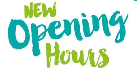 New Sunday Opening Hours