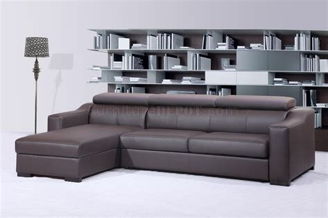 Brown Sectional Sleeper Sofa by Chocolate Brown Italian Leather Modern Sleeper Sectional Sofa
