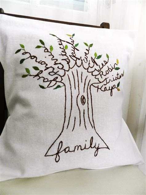personalized family pillow personalized family tree pillow cover s day gift