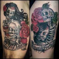 skeleton couple tattoo google search couple tattoo