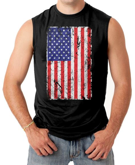oversized distressed usa flag american pride mens