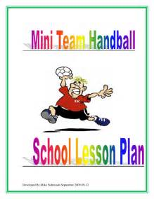 mini handball lesson plan  alberta team handball