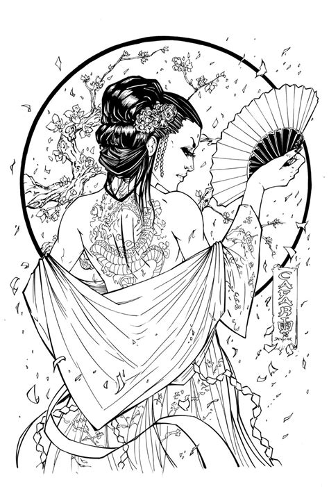 Steampunk Pin Up Girls Coloring Pages For Adults Sketch Coloring Page
