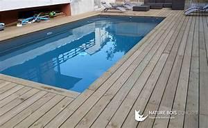 modele de terrasse en beton 13 terrasse bois piscine ma With modele de piscine en beton