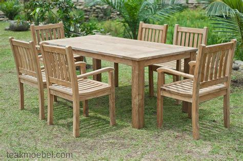 gartentisch mit 6 stühlen gartentisch 180x90cm mit 6 beaufort st 252 hle teakm 246 bel