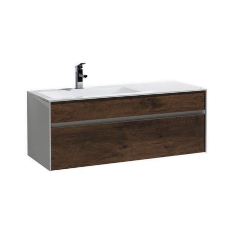 fitto  rose wood wall mount modern bathroom vanity