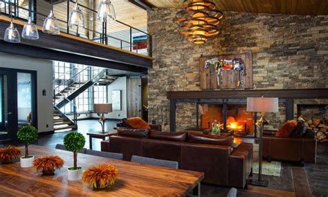rustic industrial decor modern industrial living room rustic industrial living Modern