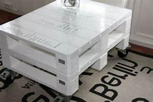 Table Basse Palettes : la table basse design en mille et une photos avec beaucoup ~ Melissatoandfro.com Idées de Décoration